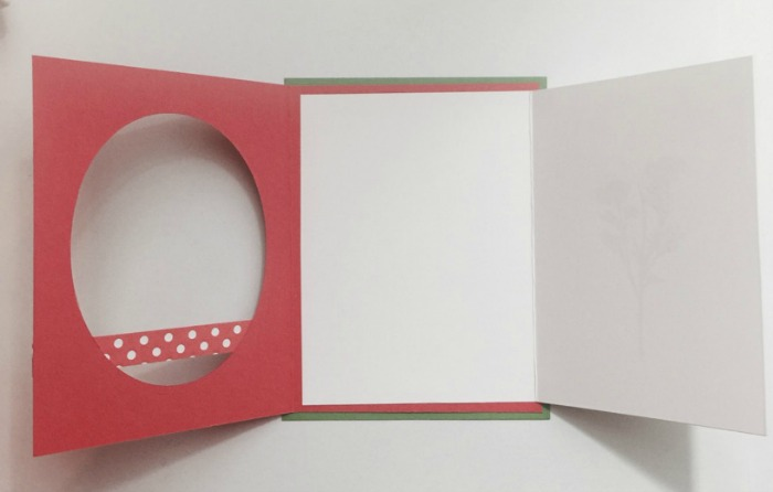 inside of fun fold card