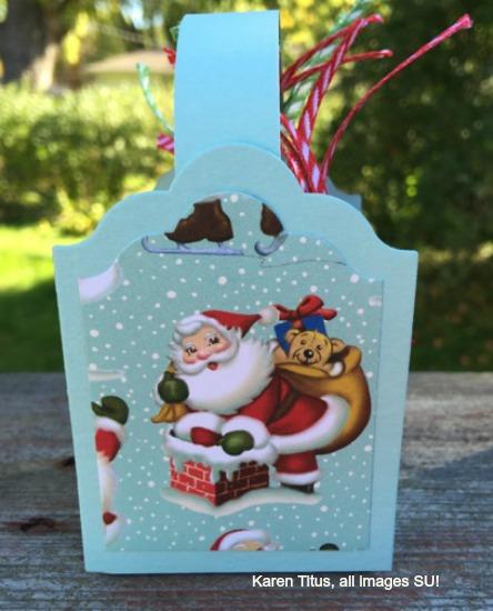 box full of handmade gift tags