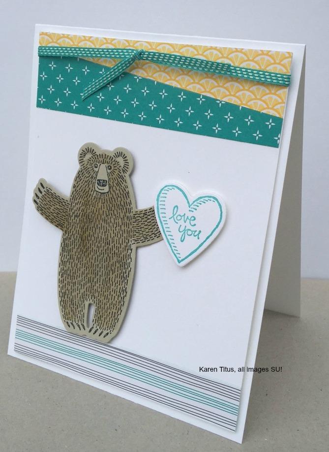 handmade bear cards