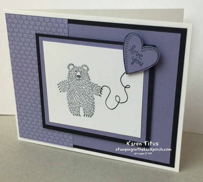 Bear Hugs Valentine Card