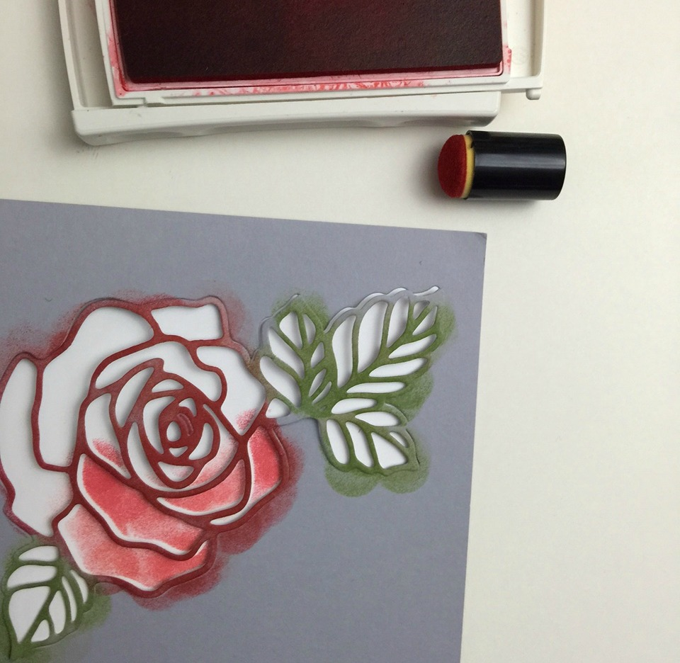 sponging tutorial for greeting cards
