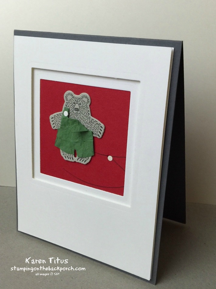 handmade card with bear hugs