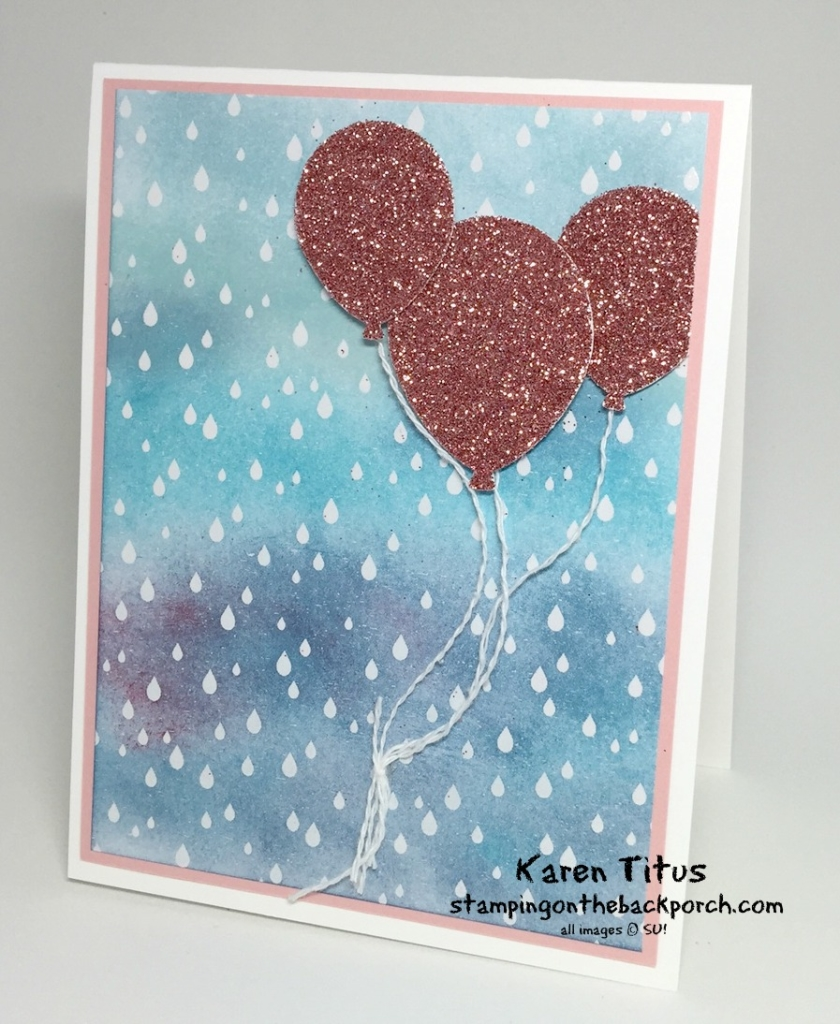 balloon punch greeting card