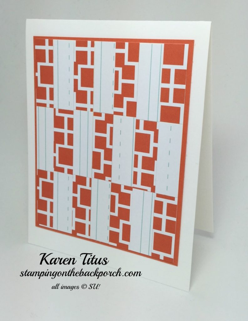 modern bargello card