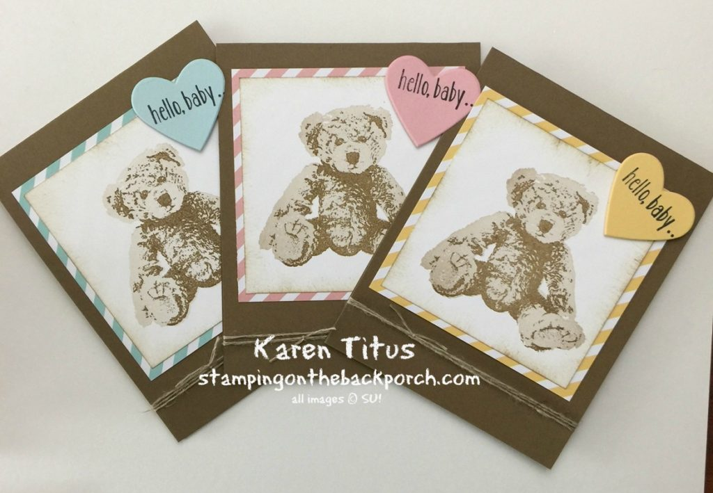 baby card with baby bear