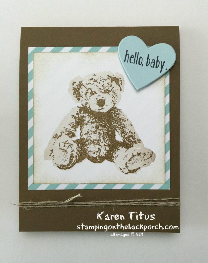 adorable handmade baby card