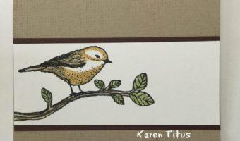 CAS card with Best Birds