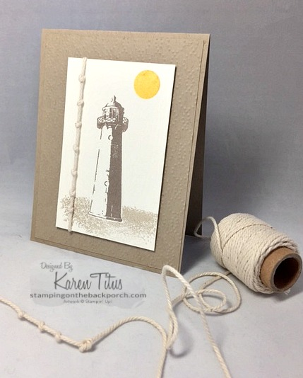 use knotted rope for handmade nautical cards