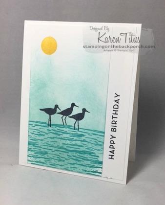 sponging technique for handmade card using high tide