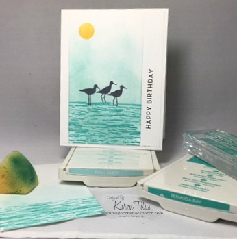 sponging tutorial for card making