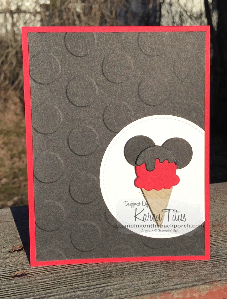 cool treats mickey mouse ice cream cone card