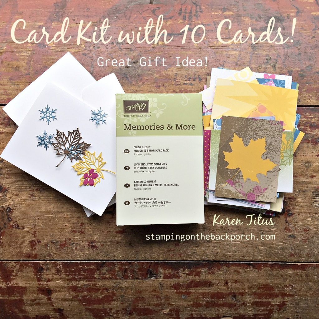 make your own Card Kit to give as a gift