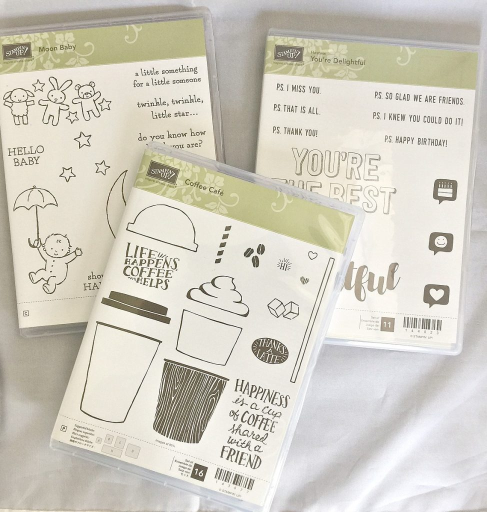 three stamp sets to make one card