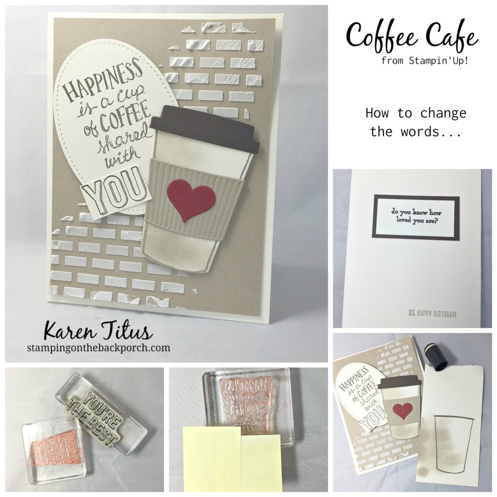 stamping techniques with coffee cafe