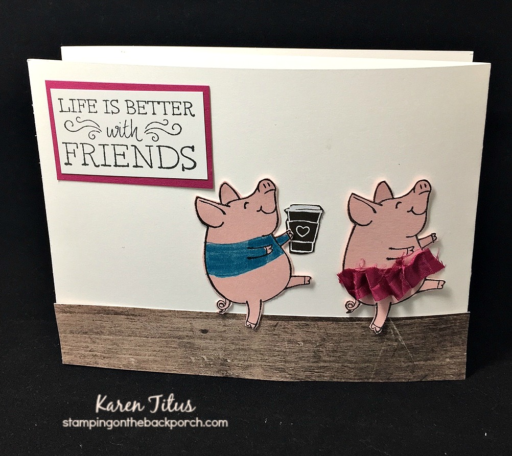 handmade thank you card using this little piggy