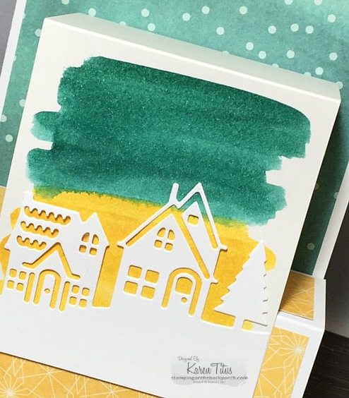 watercolor technique with Hearts Come Home bundle