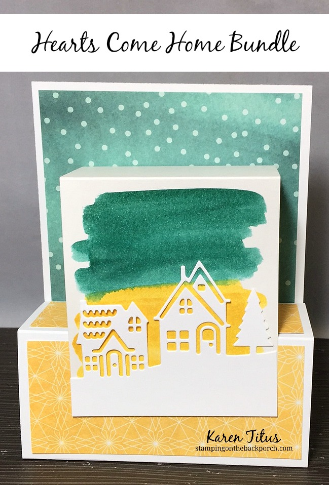 Fun Fold Card Using Hometown Greetings Edgelits Dies