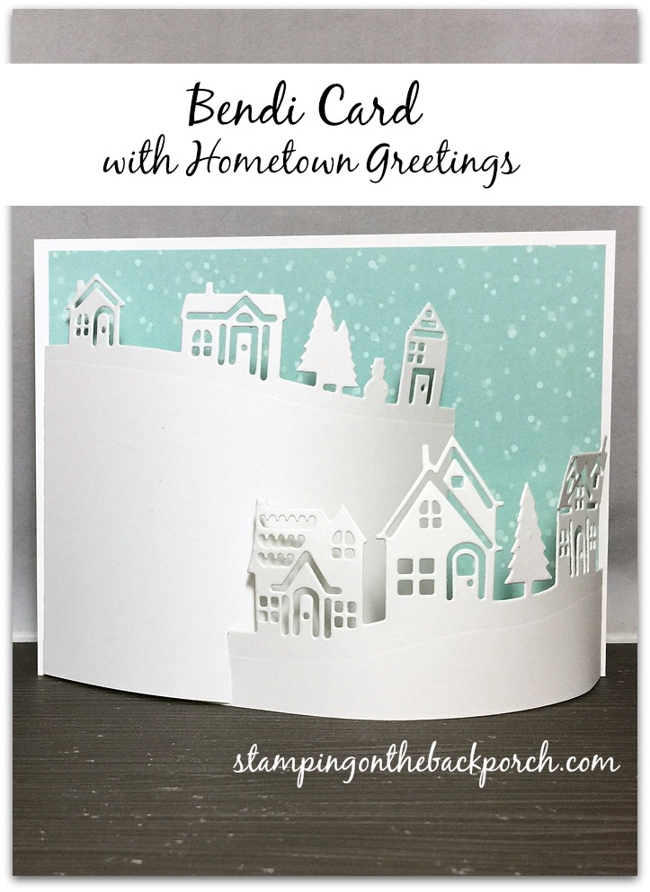 how to make a bendi card with Hometown Greetings