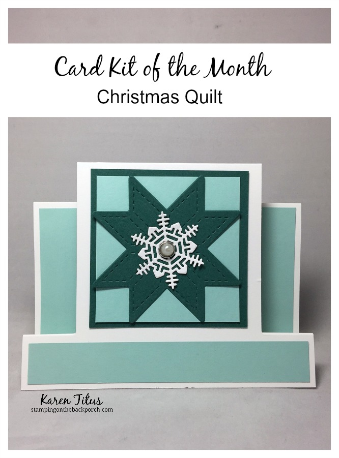 Christmas Quilt Card Kit of the Month from Karen