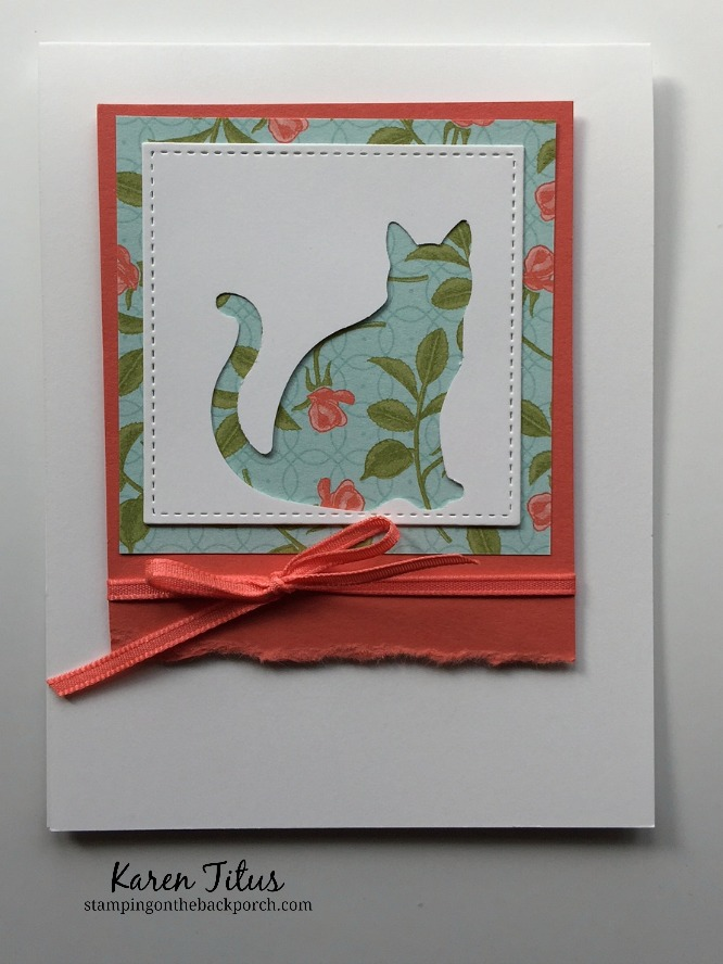a framed cat card for card lovers for any occasion