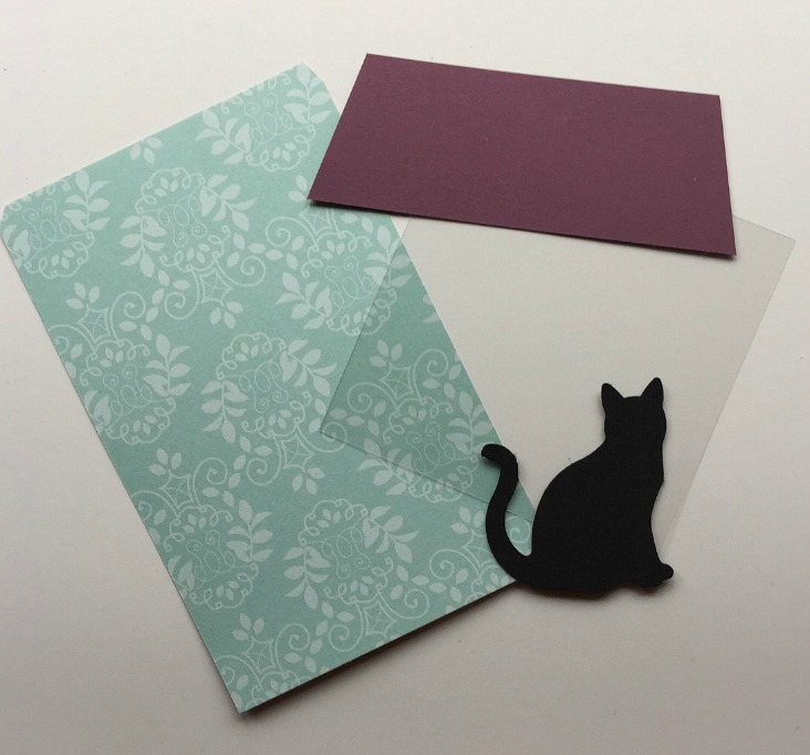 supplies for a cat pull out card