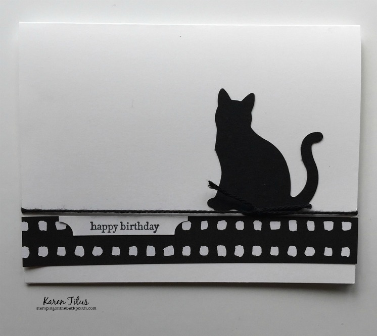 quick & easy birthday card for cat lovers with a fun punch techique