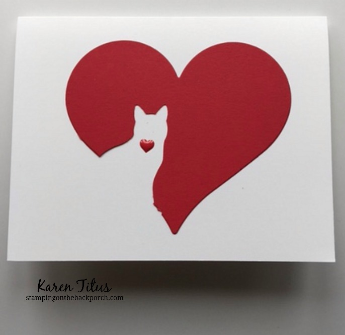 quick & easy cat sympathy card using the cat punch and sweet & sassy framelits