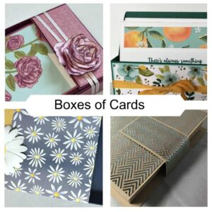 Boxes of Cards Online Class with Karen