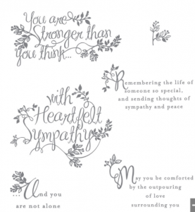 Heartfelt Sympathy stamp set Stampin' Up!