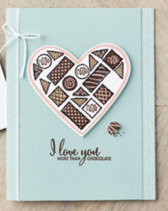 Valentines card with Stampin' Up! More than Chocolate