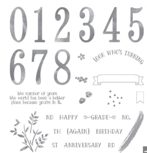 Number of Years Stampin' UP! stamp set
