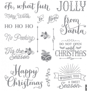 Oh What Fun Stampin' Up! stamp set with lots of Holiday greetings