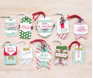 handmade Holiday Gift Tags with Oh What Fun stamp set
