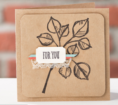 handmade card with Remarkable You