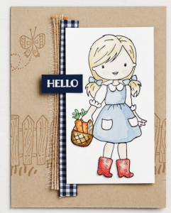 handmade card with Garden Girl