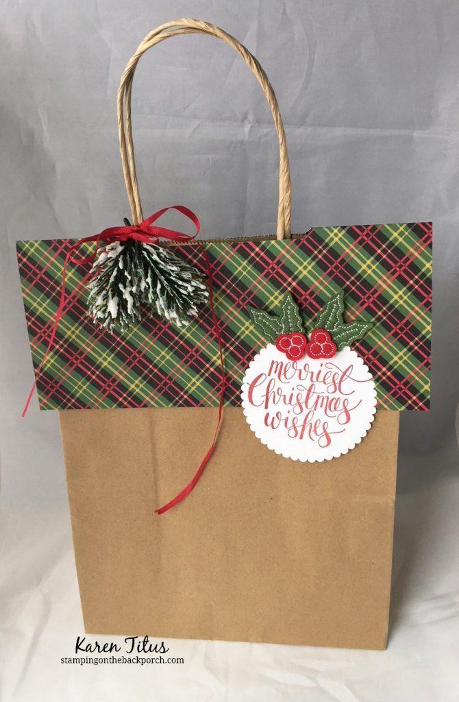 Christmas Bag Topper for Gift Wrap