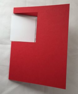 how to make a gift box on a card