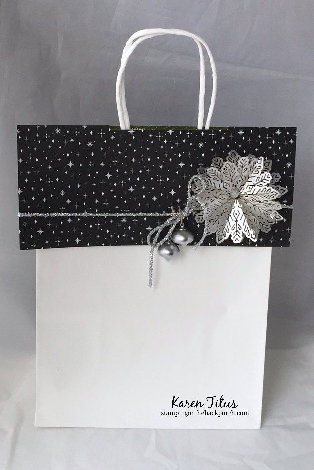 Christmas Bag Topper with Silver Foil