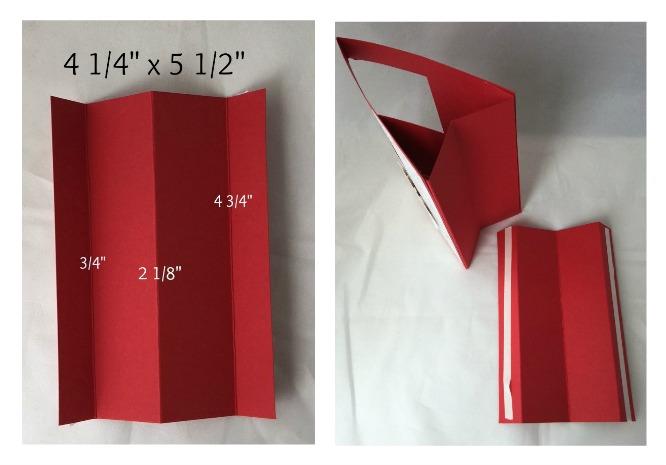 pattern to make a box on a card