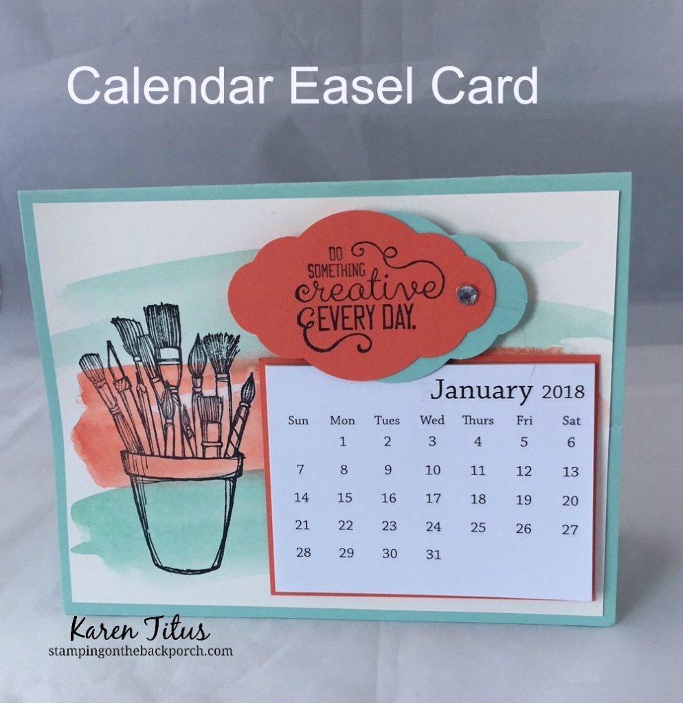 How to make a Calendar Easel Card