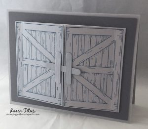 Double Barn Door Card using the Barn Door Bundle