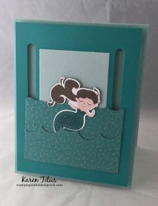 how to make a mermaid slider card