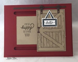 traditional card with the Barn Door Bundle Stampin Up