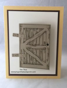 Quick & Easy Card with the Barn Door Bundle