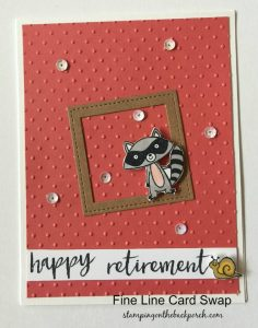 handmade retirement card with we must celebrate
