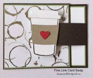handmade coffee cup card