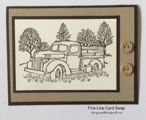 masculine card with pickup truck