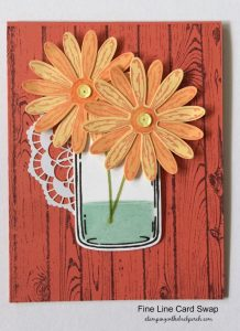 daisies in a jar card