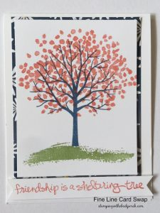 spring card using sheltering tree