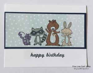 cute birthday card with we must celebrate